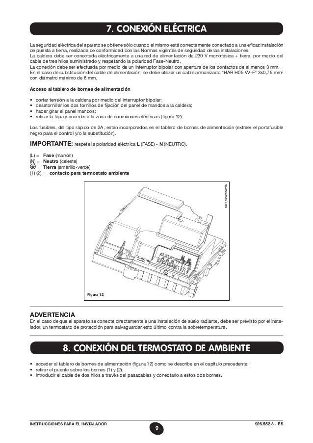 Manual baxiroca neonox 20 24 f for Instrucciones caldera roca