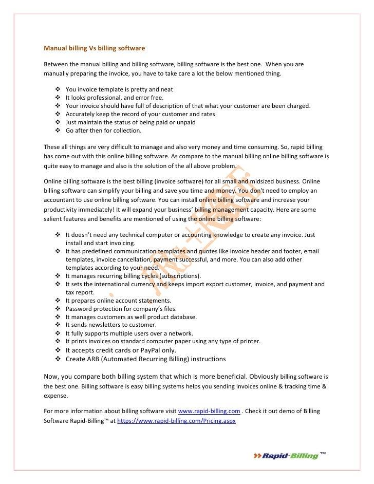 manual billing vs billing software rh slideshare net