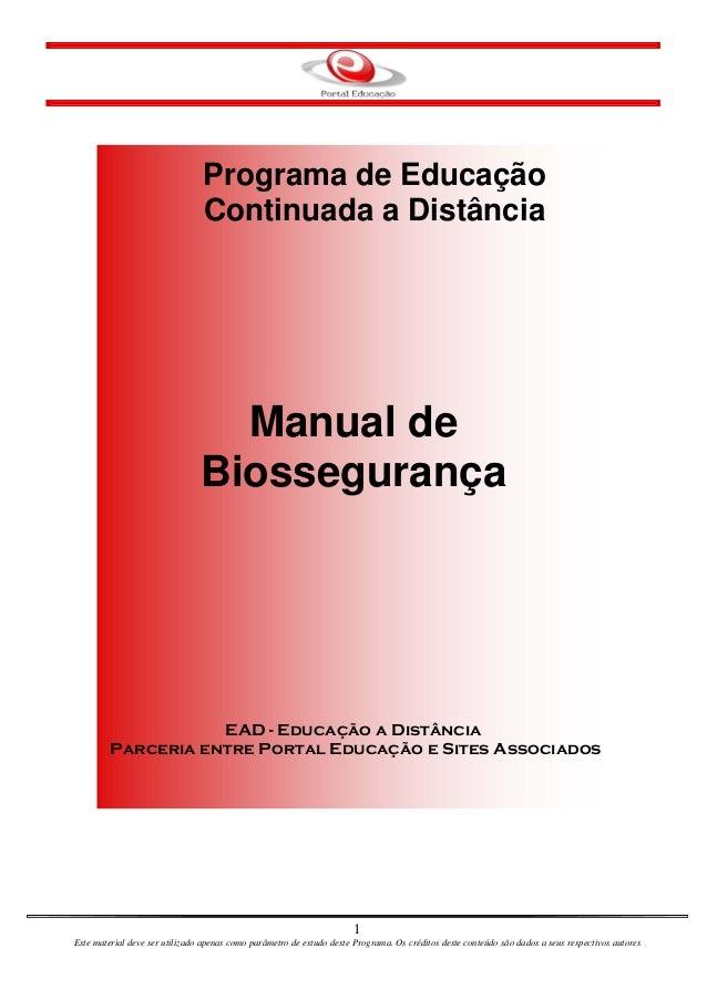 Programa de Educação                                Continuada a Distância                                  Manual de     ...