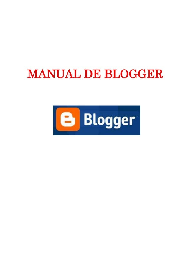 MANUAL DE BLOGGER