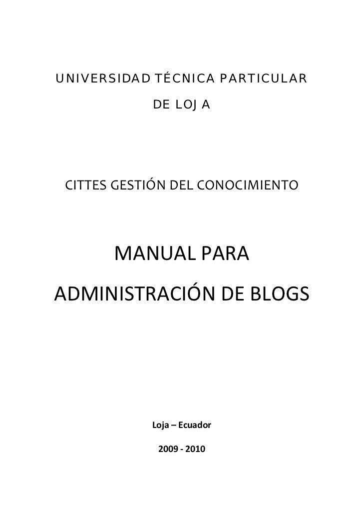 UNIVERSIDAD TÉCNICA PARTICULAR             DE LOJA CITTESGESTIÓNDELCONOCIMIENTO                                     ...