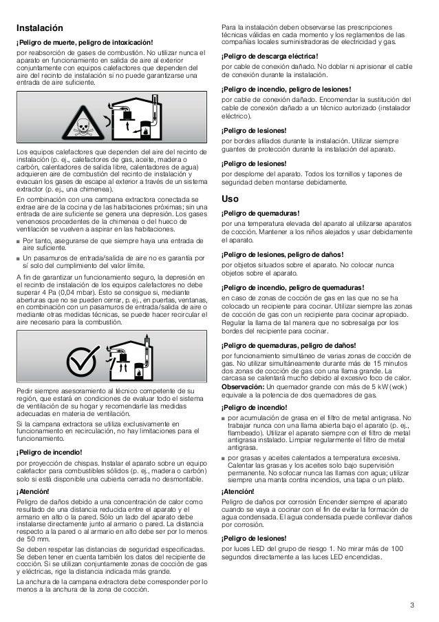 Manual bosch   campana a pared dwk09 e650 Slide 3