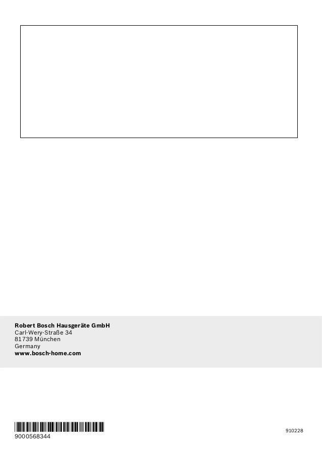 manual bosch campana a pared dww09 u850. Black Bedroom Furniture Sets. Home Design Ideas