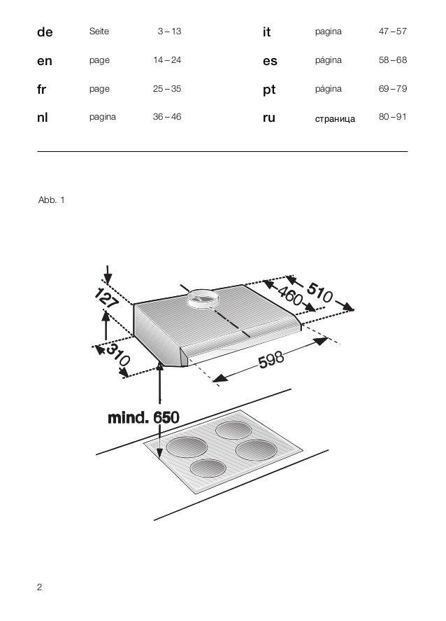 manual bosch campana integrable dhu665 u. Black Bedroom Furniture Sets. Home Design Ideas