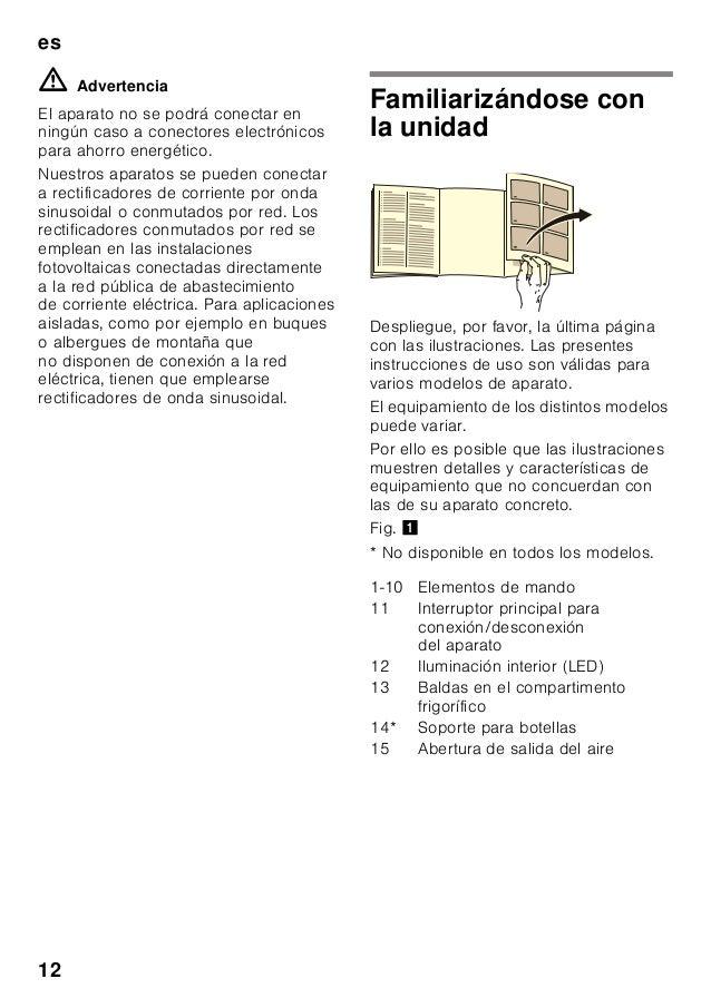 es 12 m Advertencia El aparato no se podrá conectar en ningún caso a conectores electrónicos para ahorro energético. Nuest...