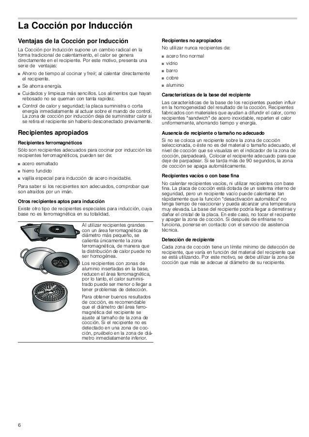 6 La Cocción por Inducción Ventajas de la Cocción por Inducción La Cocción por Inducción supone un cambio radical en la fo...