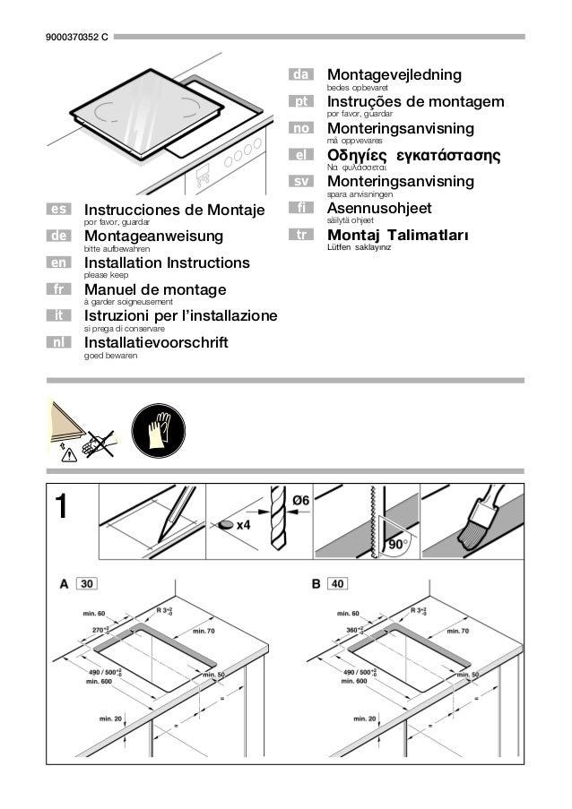 Instrucciones de Montaje por favor, guardar Montageanweisung bitte aufbewahren Installation Instructions please keep Manue...
