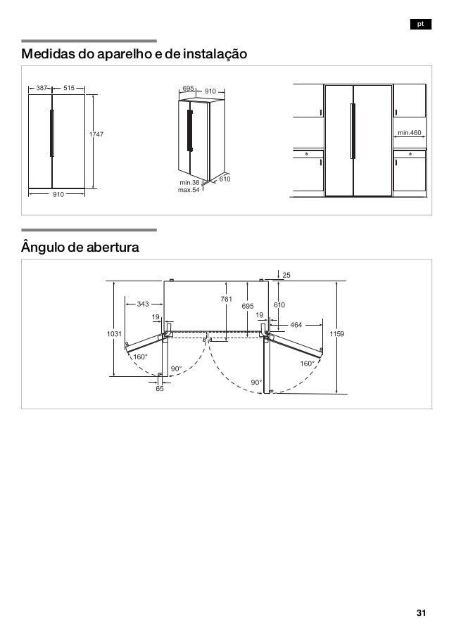 Manual bosch frigorifico americano cristal blanco kad62 s21 - Medidas frigorifico americano ...