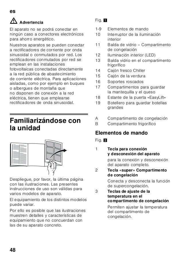 es 48 ã=Advertencia El aparato no se podrá conectar en ningún caso a conectores electrónicos para ahorro energético. Nuest...