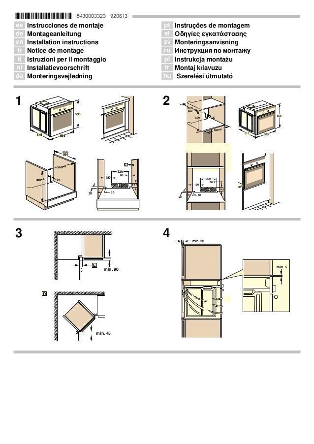 *5430003323* 5430003323 920613 Û Instrucciones de montaje Ø Montageanleitung Ú Installation instructions Þ Notice de monta...