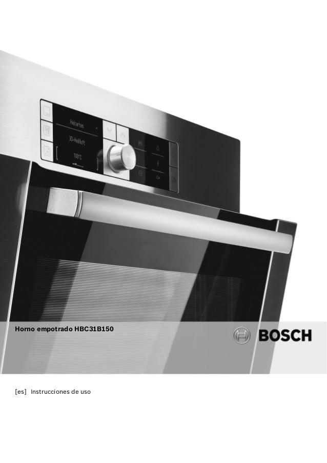 [es] Instrucciones de uso Horno empotrado HBC31B150