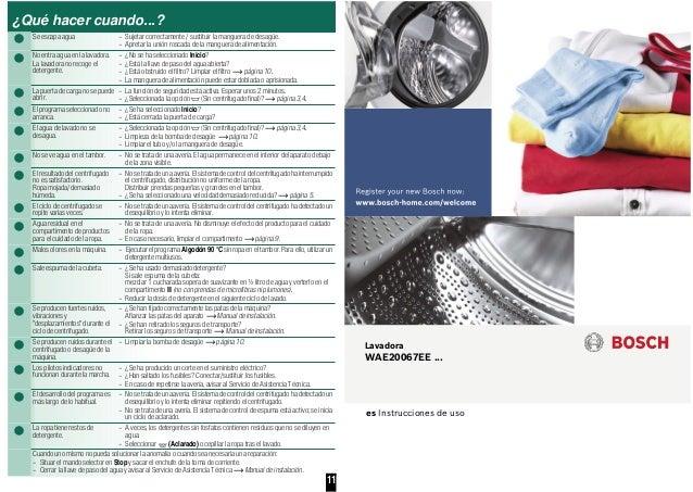 Manual bosch lavadora carga frontal wae20067 ee for Lavadoras pequenas carga frontal