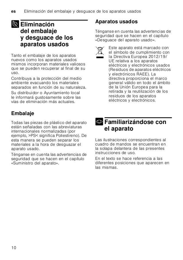 Descalcificador/Sal especial es 11 Cuadro de mandos * según el modelo concreto ** Cantidad según modelo Interior del lavav...