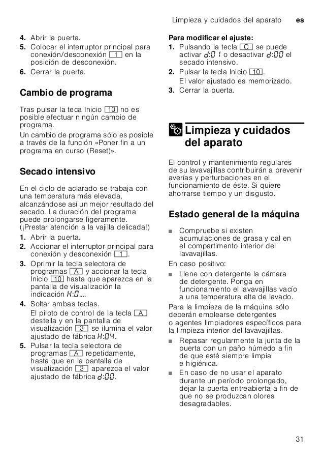 Manual bosch lavavajillas integrable smv69 u80eu