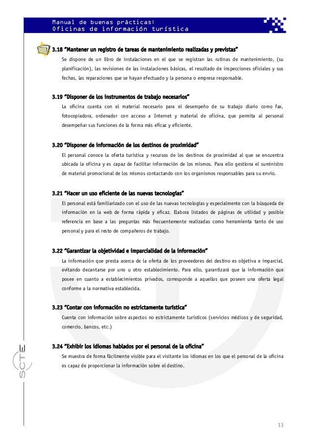 Manual de buenas pr cticas oficinas de informaci n tur stica - Oficina de informacion turistica ...