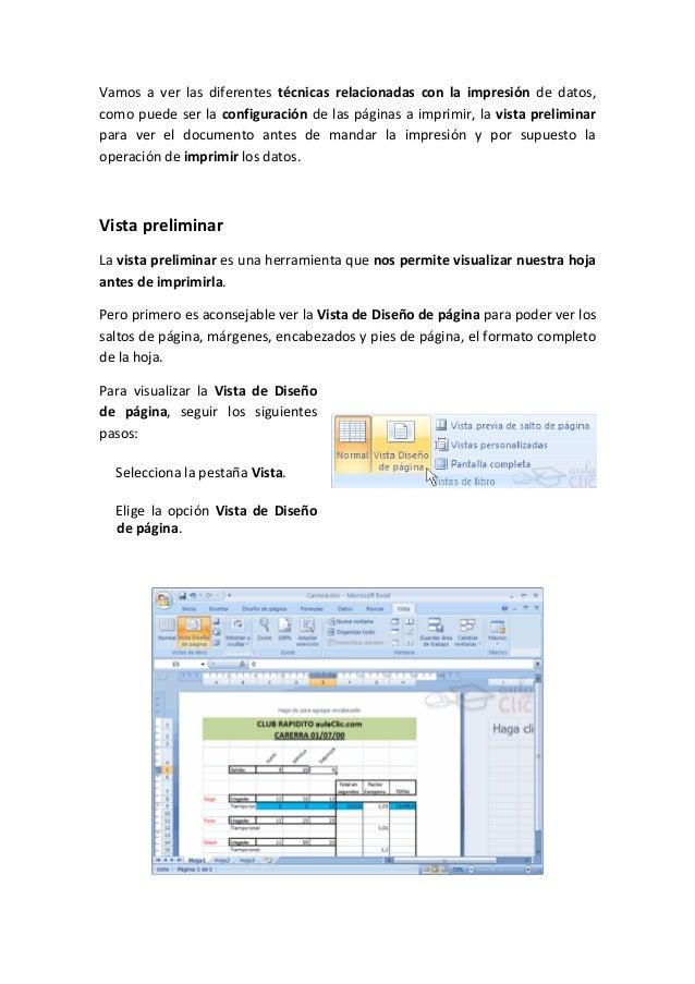 Vamos a ver las diferentes técnicas relacionadas con la impresión de datos,como puede ser la configuración de las páginas ...
