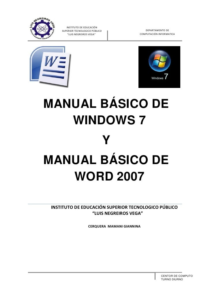 Manual básico de windows 7