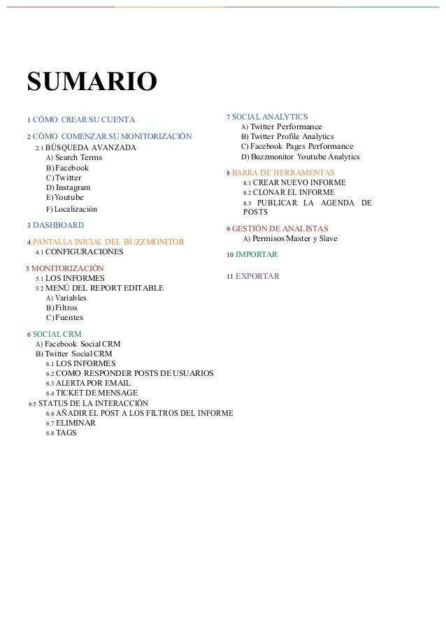 Manual Buzzmonitor - Deciembre 2016 (castellano) Slide 2