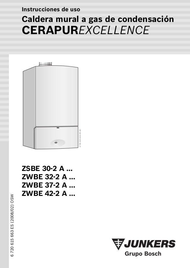 Manual caldera junkers cerapur excellence zwbe 32 2 a for Caldera mural a gas