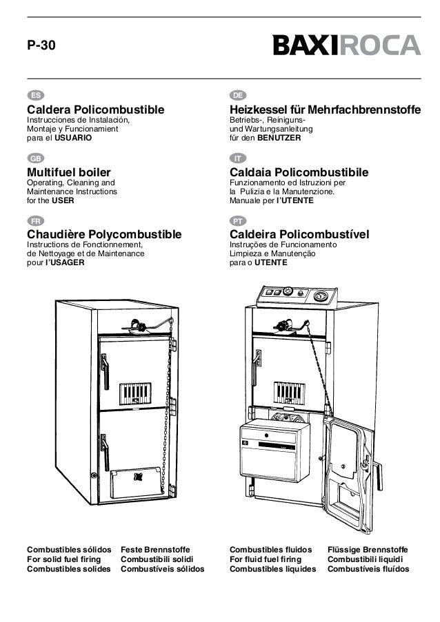 manual caldera policombustibles baxiroca p 30