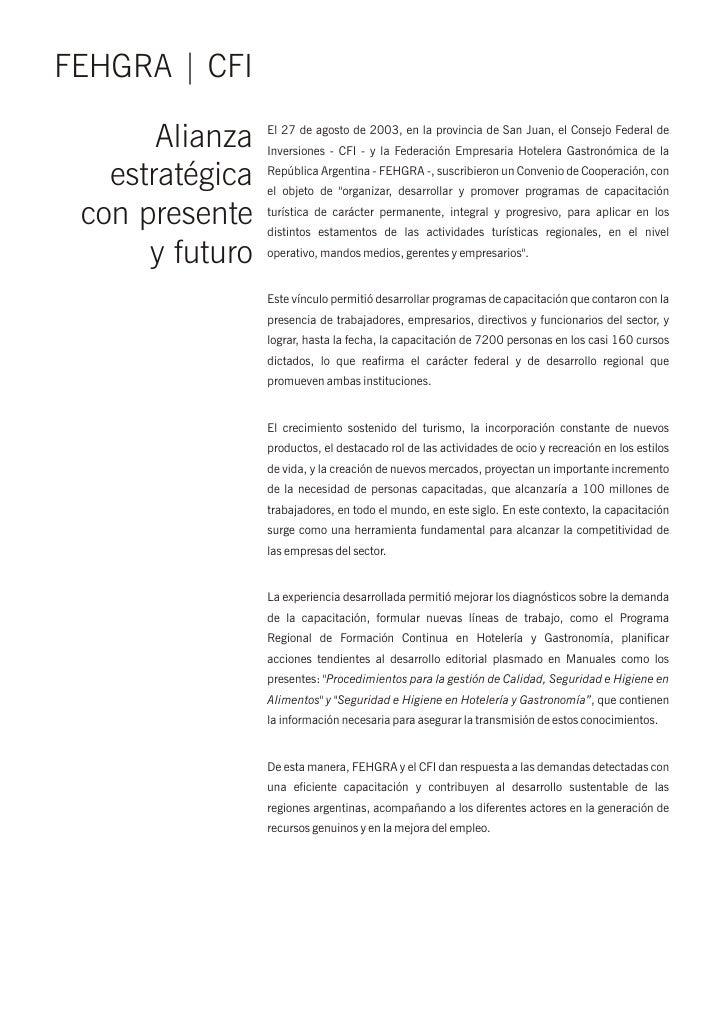 FEHGRA   CFI       Alianza   El 27 de agosto de 2003, en la provincia de San Juan, el Consejo Federal de                 I...
