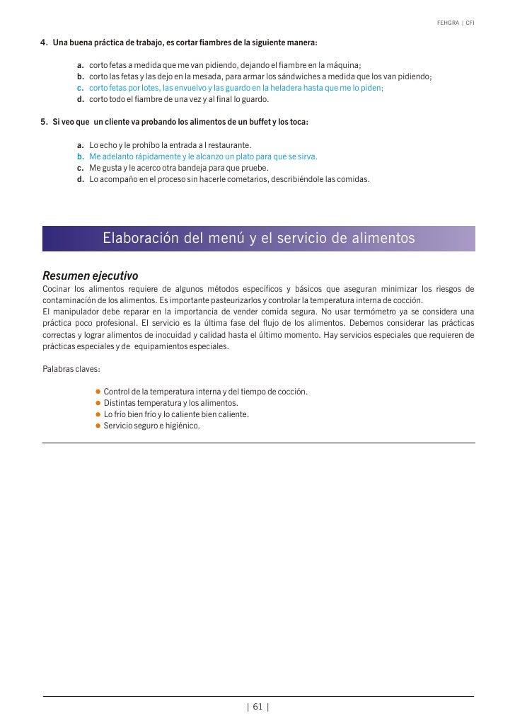 Manual calidad higiene de alimentos