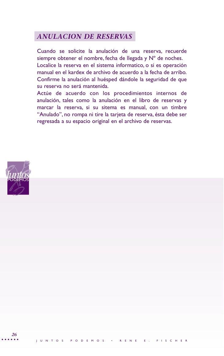 Manual calidad hoteles y restaurantes for Manual de procedimientos de alimentos y bebidas de un hotel