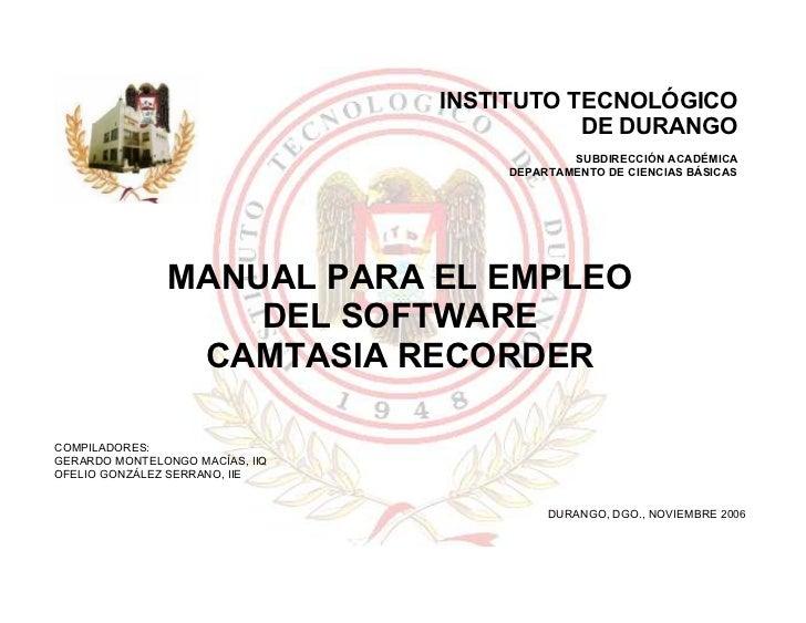 INSTITUTO TECNOLÓGICO                                                     DE DURANGO                                      ...