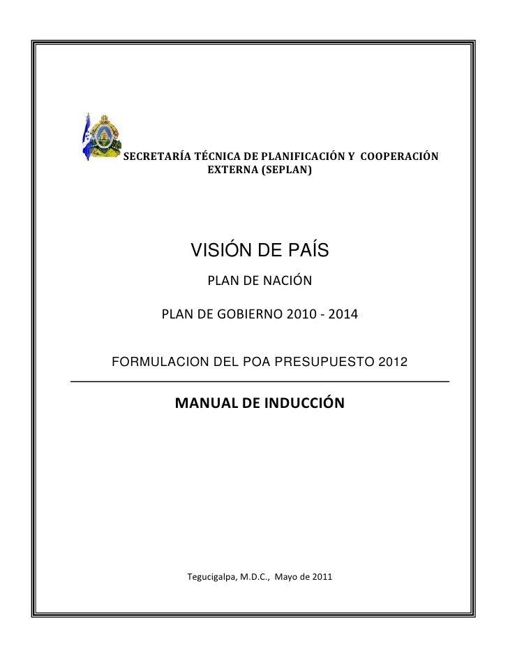 SECRETARÍA TÉCNICA DE PLANIFICACIÓN Y COOPERACIÓN              EXTERNA (SEPLAN)           VISIÓN DE PAÍS              PLAN...