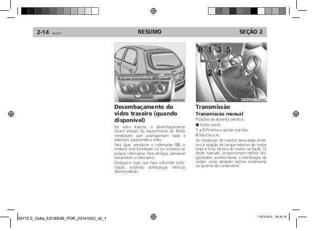 Manual Celta 2015 da Chevrolet