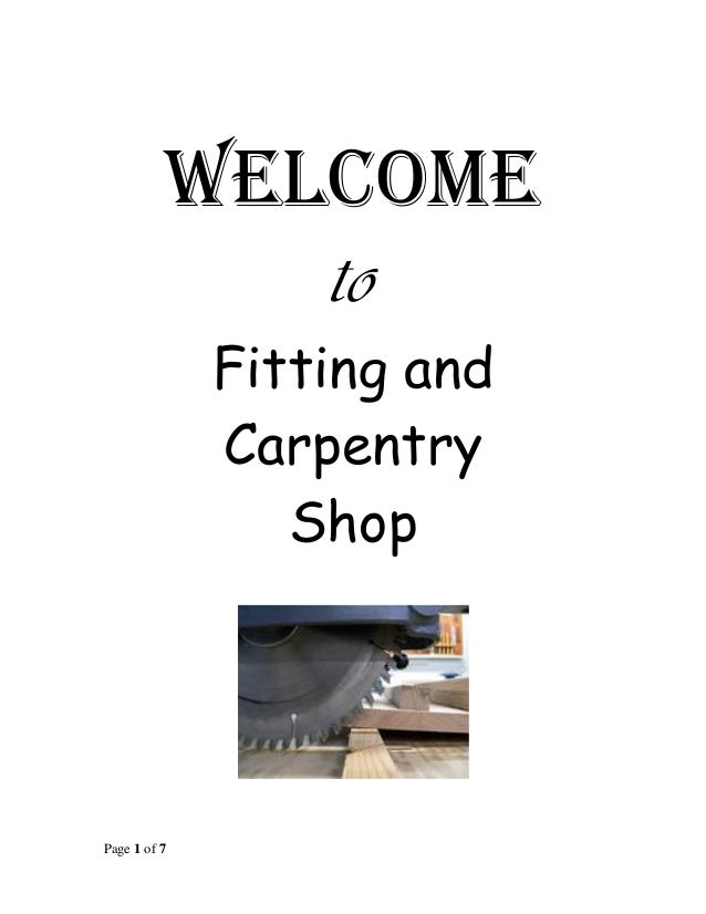 manual carpentry fitting shop 1st yr rh slideshare net Carpentry Obstacles Ancient Carpentry Tools