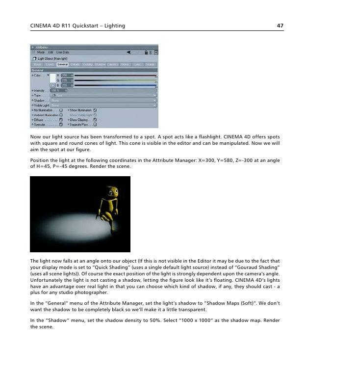 Manual cinema 4 d
