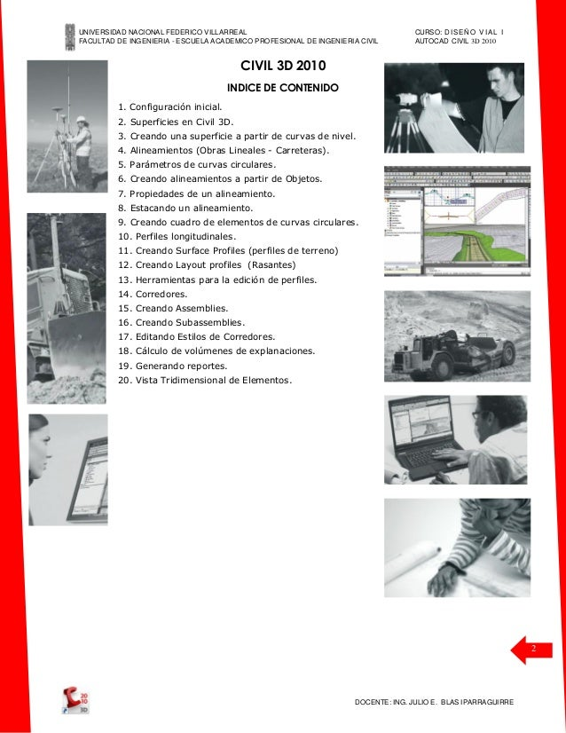 manual civil 3 d 2010 dise o vial i unfv rh es slideshare net Civil 3D Rendering AutoCAD Civil 3D 2013