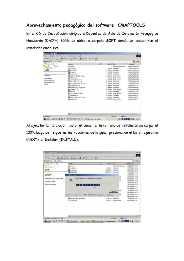 Aprovechamiento pedagógico del software CMAPTOOLS En el CD de Capacitación dirigido a Docentes de Aula de Innovación Pedag...