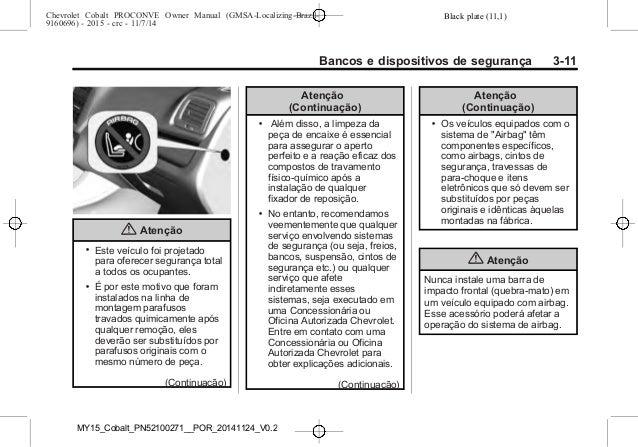 manual cobalt 2015 da chevrolet rh pt slideshare net manual cobalt 2006 manual de cobalt 2006 español