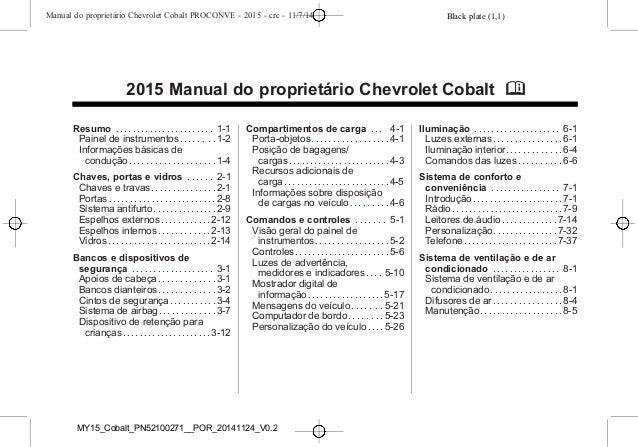 manual cobalt 2015 da chevrolet rh pt slideshare net manual de cobalt 2005 en español manual cobalt 2006