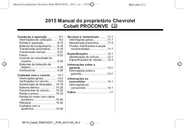manual cobalt 2015 da chevrolet rh pt slideshare net manual cobalt 2006 manual de cobalt 2007