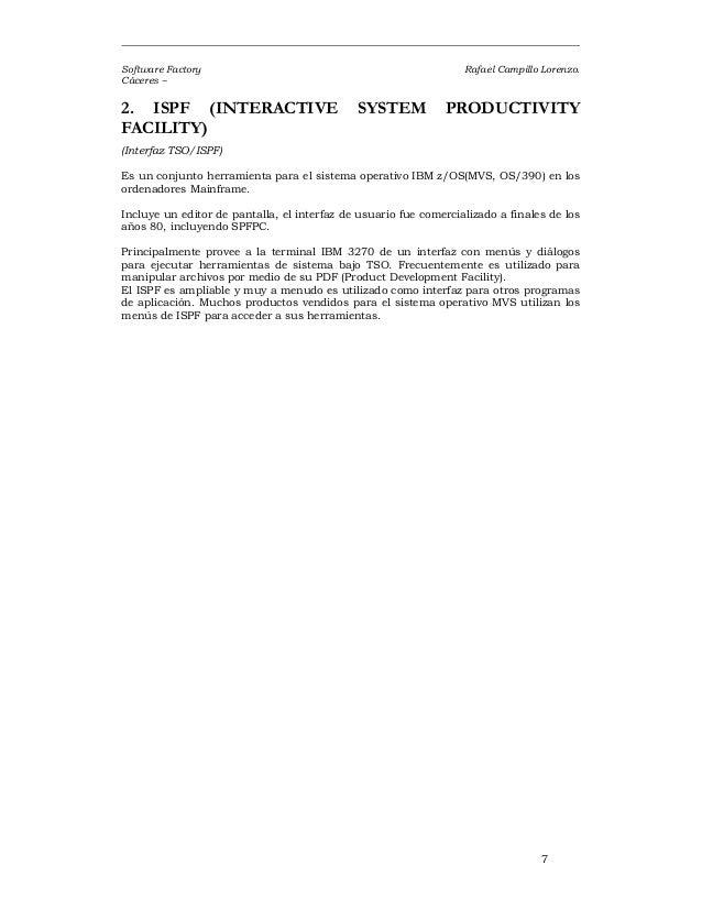 Ibm tso ispf Manual