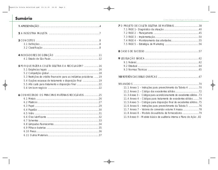 Apostila Coleta Seletiva2.qxd         20.11.03     19:32     Page 2     Sumário                                           ...