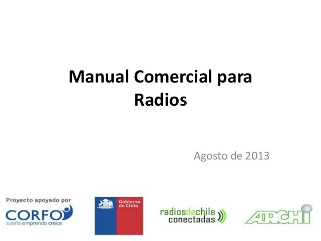 Tal Manual Comercial para Radios Agosto de 2013