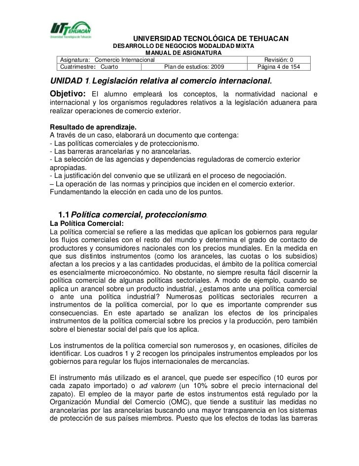 Manual comercio internacional 1 for Agencias de comercio exterior
