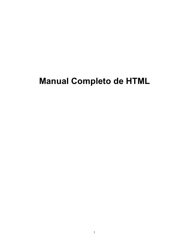 Manual Completo de HTML  1