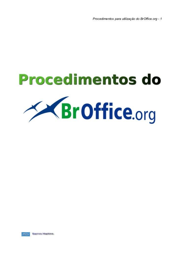 Procedimentos para utilização do BrOffice.org - 1