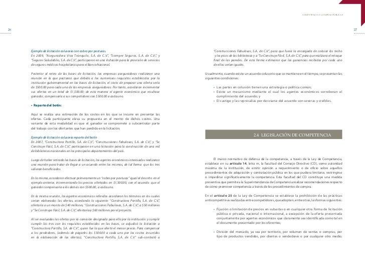 COMPETENCIA Y COMPRAS PÚBLICAS26                                                                                          ...
