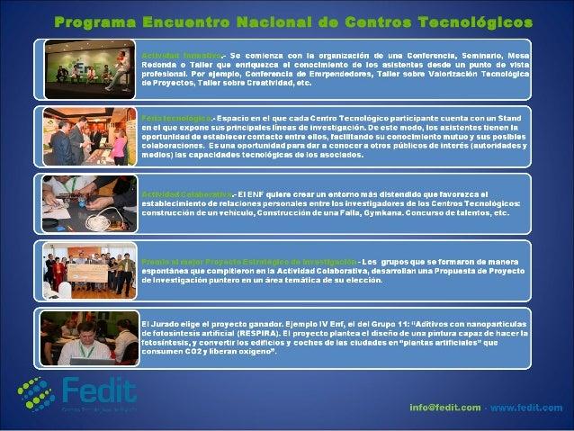 Programa Encuentro Nacional de Centros Tecnológicos