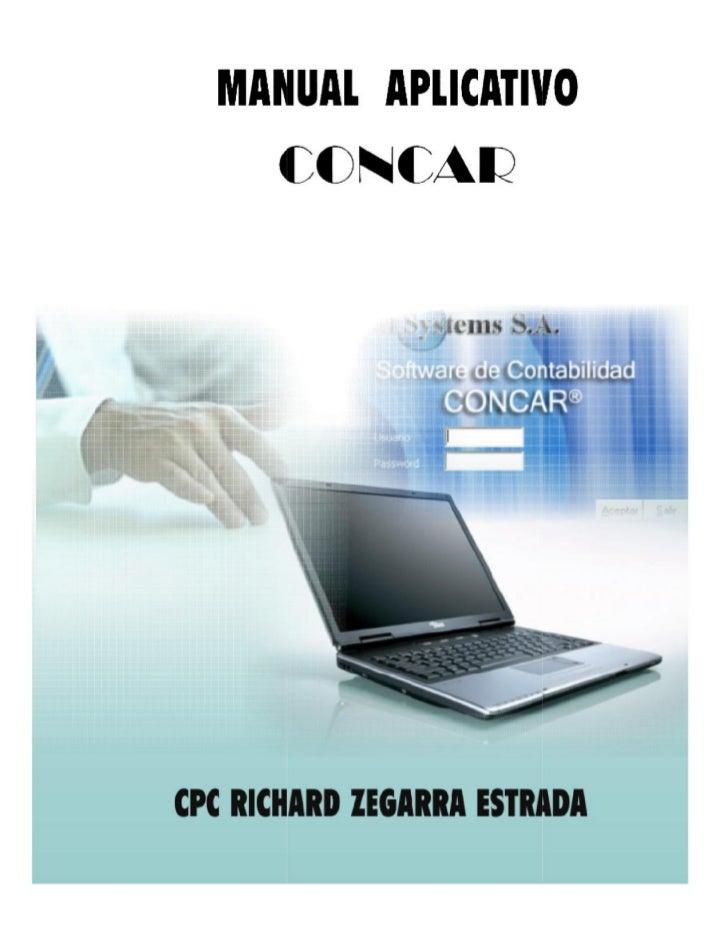 DERECHOS RESERVADOSCPC RICHARD ZEGARRA ESTRADALos derechos del programa CONCAR son totalmente reservados deREAL SYSTEMS SA...