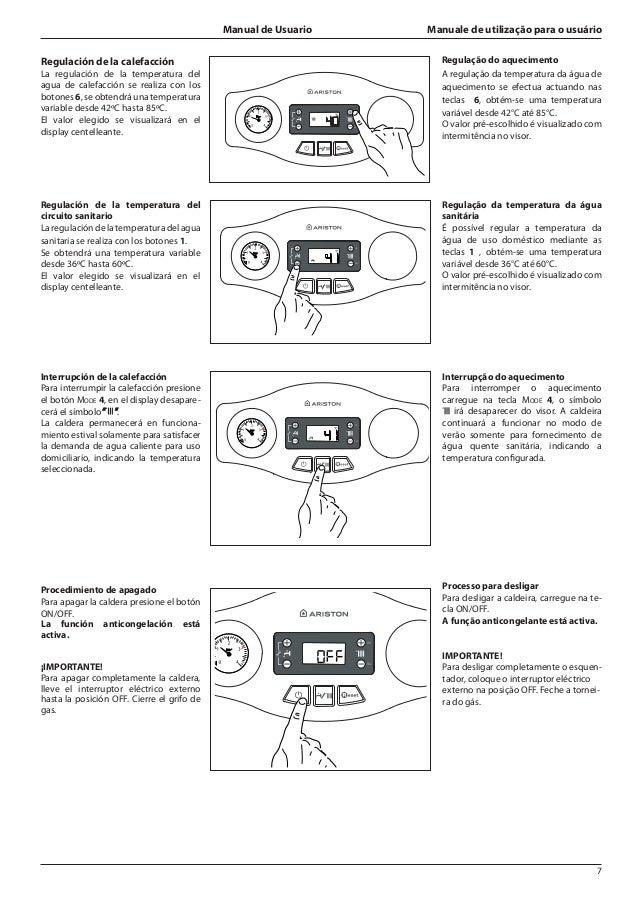 Manual de caldera ariston – sistema de aire acondicionado.