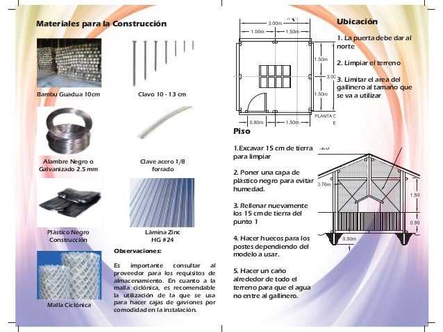 Manual construccion gallinero para impresion - Materiales construccion baratos ...