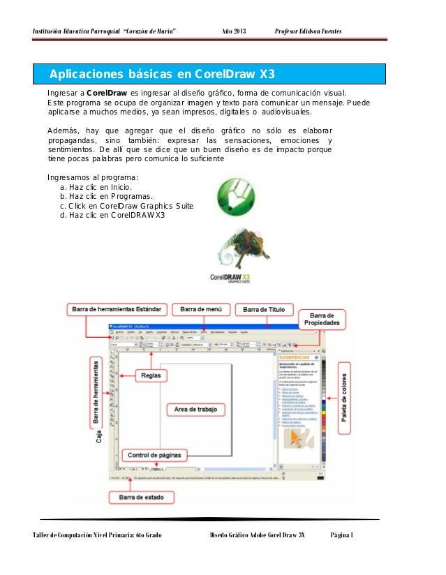 manual corel draw x3 0 rh es slideshare net  manual corel draw x3