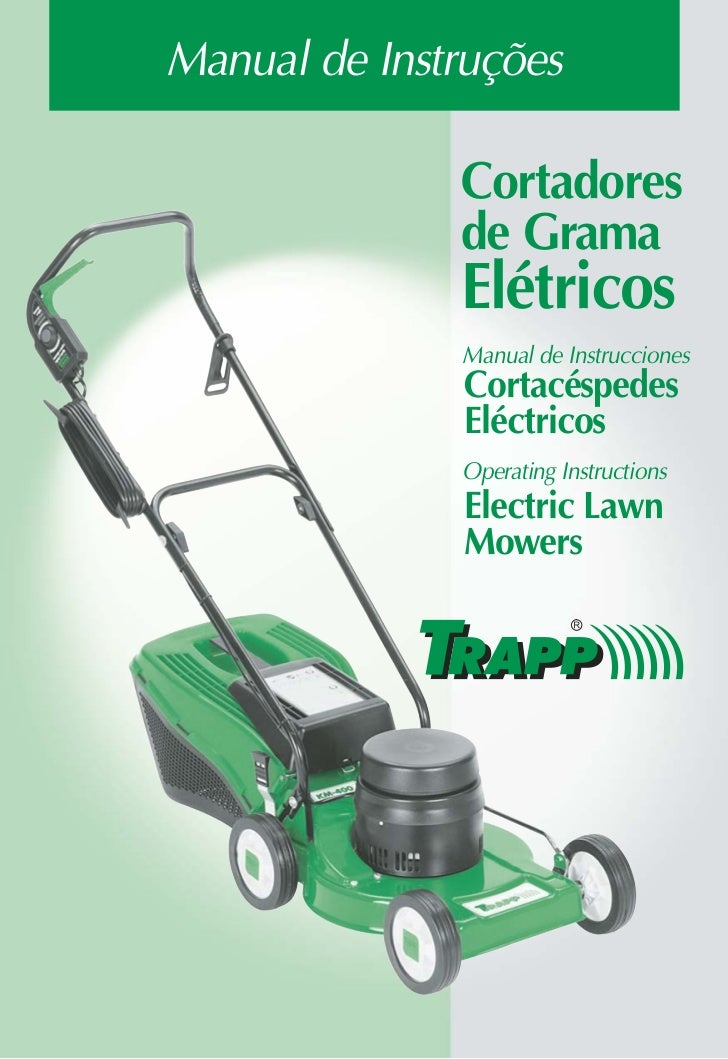 Manual de Instruções              Cortadores              de Grama              Elétricos              Manual de Instrucci...